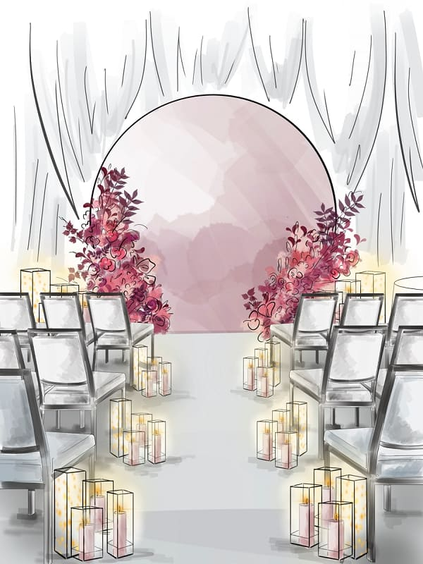 wedding ceremony concept sketch