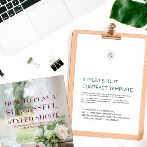Styled shoot ebook and contract bundle