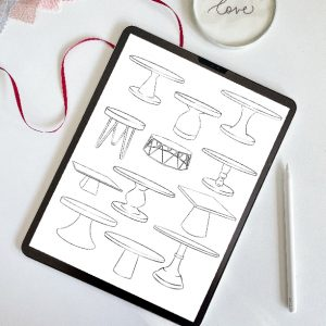 Procreate Cake Stand Stamp Brushes Always Andri